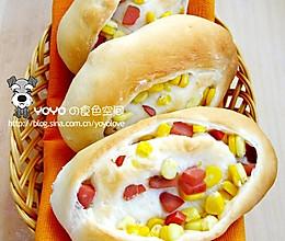 火腿甜玉米面包的做法