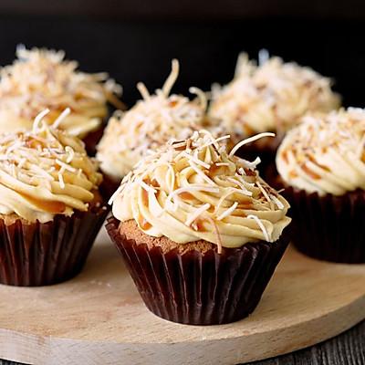 焦糖奶酪 cupcake 杯子蛋糕 (视频菜谱)