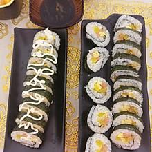 蛋皮寿司和肉松寿司