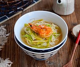 韭黄虾汤面的做法