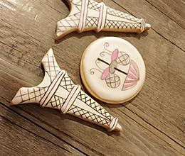 糖霜饼干--铁塔手绘的做法