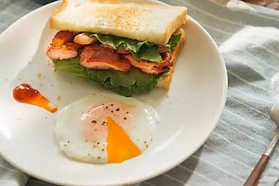 煎鸡肉三明治|日食记