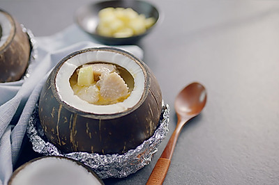 泰椰竹荪炖鸡汤