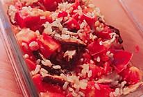 西红柿香菇糙米饭(微波炉版)的做法