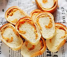 咸蛋黄肉松面包的做法
