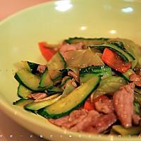 黄瓜炒肉片的做法图解6