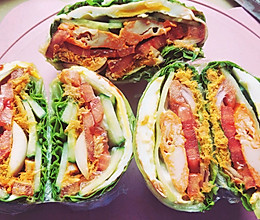 关晓彤同款蔬菜三明治(改良版)的做法