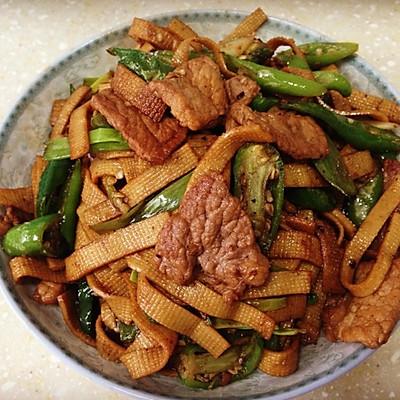 豆腐皮炒五花肉