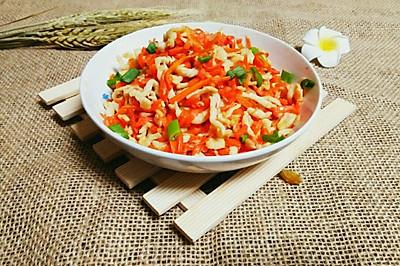 胡萝卜炒鸡丝~美味家常菜