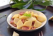 腊肠焖白萝卜的做法