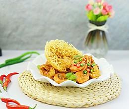 #快手又营养,我家的冬日必备菜品#方便面海鲜锅巴的做法