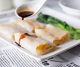 【经典广式】虾仁鸡蛋肠粉的做法
