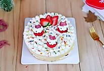 相聚组个亲友局#草莓圣诞裸蛋糕的做法