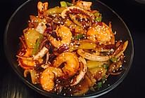 香辣干锅鱿鱼虾的做法