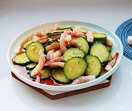 鲜美凉拌菜~虾刺身拌黄瓜的做法