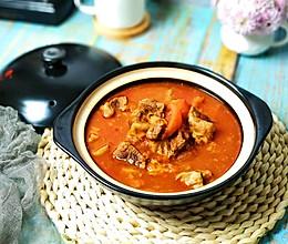 #肉食者联盟#砂锅浓汤番茄炖牛腩的做法