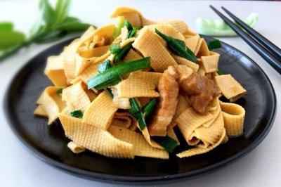 37期 豆皮炒韭菜