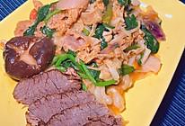 饺子皮之茄汁肥牛面片的做法