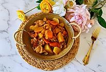 #尽享安心亲子食刻#可以吃两碗米饭的胡萝卜土豆炖鸡块的做法
