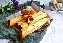 #带着零食去旅行!#酥脆的芝麻鸡蛋卷的做法