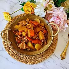 #尽享安心亲子食刻#可以吃两碗米饭的胡萝卜土豆炖鸡块