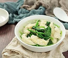菠菜滑肉汤的做法