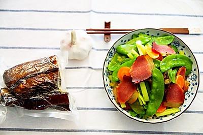 熏肉做法(炒荷兰豆)