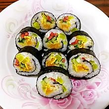 #美食视频挑战赛# 咸蛋黄寿司