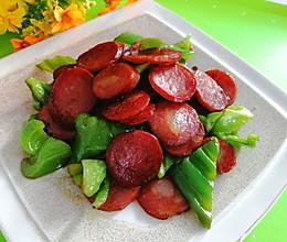 #中秋团圆食味#东北-香肠炒青椒的做法