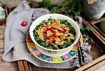 #快手又营养,我家的冬日必备菜品#酸辣鸡丝荞麦面的做法
