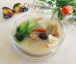 白萝卜炖豆腐小砂锅的做法
