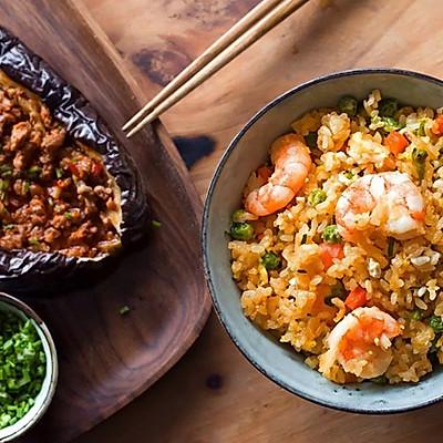 耳光炒饭&烤茄子|日食记