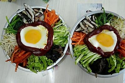 中式钢盆拌饭