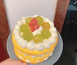 六寸裸蛋糕的做法