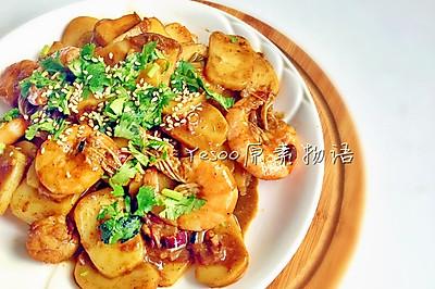 大虾炒年糕-适合上班族的快手菜
