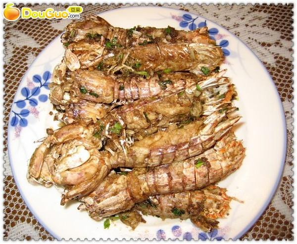 椒盐虾蛄的做法