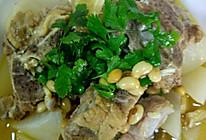 白萝卜炖排骨汤的做法
