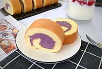 香芋紫薯蛋糕卷的做法