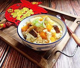 南瓜鸡胸香菇焖饭的做法