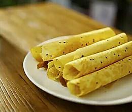 黑芝麻蛋酥卷,一口酥到骨子里的美味的做法
