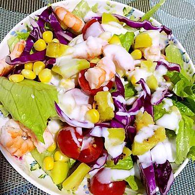 减肥水果蔬菜沙拉