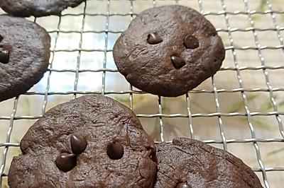 巧克力豆饼干#手残党