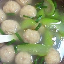 贡丸丝瓜汤