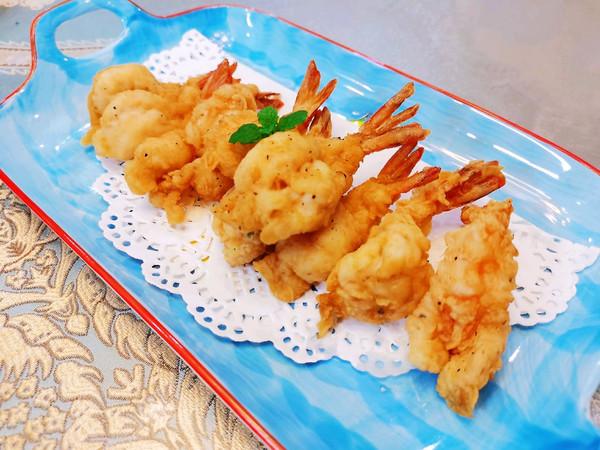 香酥凤尾虾仁的做法