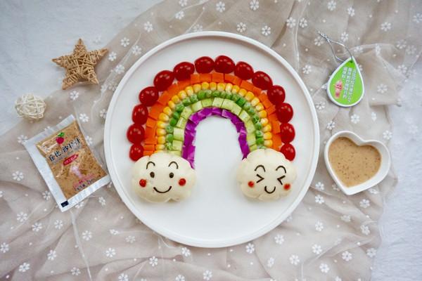 彩虹蔬菜馒头沙拉#丘比沙拉汁#的做法