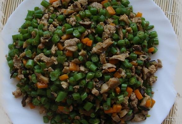 肉糜四季豆的做法