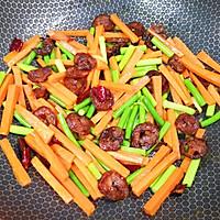 #元宵节美食大赏#胡萝卜炒腊肠的做法图解15
