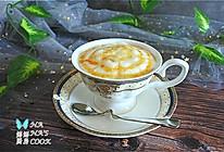 #憋在家里吃什么#焦糖玛奇朵 ,零基础也可以完成的雕花咖啡的做法