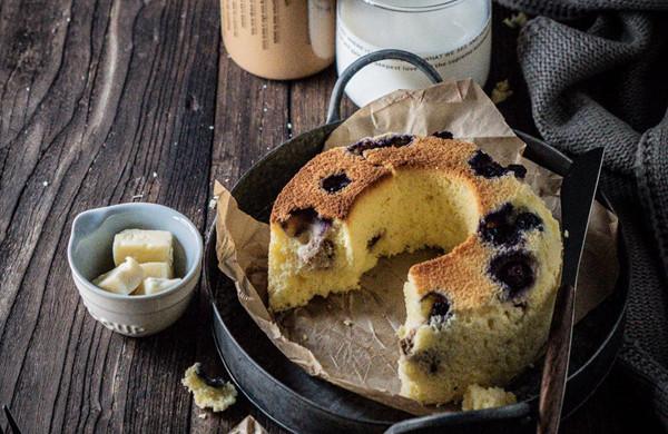 核桃蓝莓酸奶戚风蛋糕
