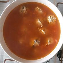 减脂西红柿鸡肉丸子汤